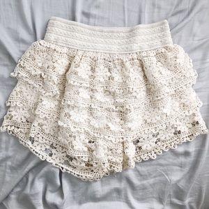 Super cute crochet shorts